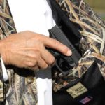 DeCamo Concealed Carry Gun/Passport Pocket, Fits up to .45 caliber handgun